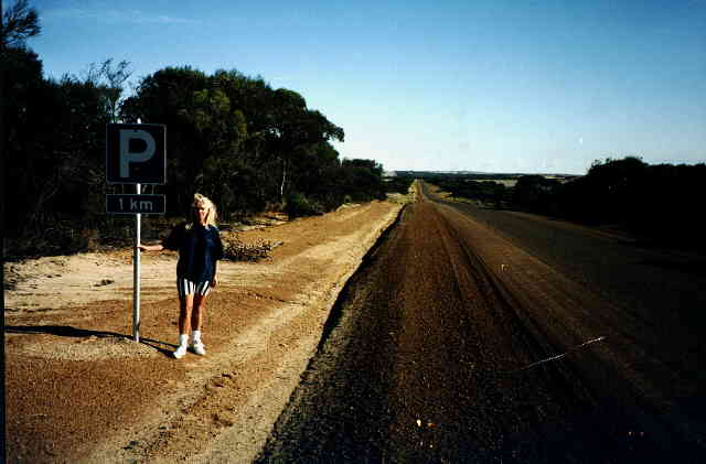 The long road to Wave Rock